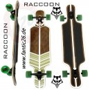 "Racoon Dropmashine twin-tip Longboard 37,5"" wood/green"