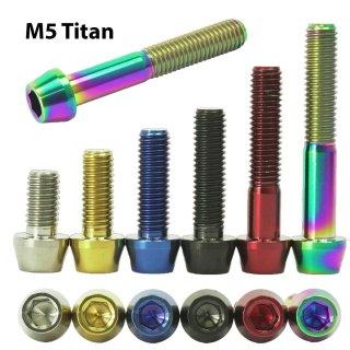 Titan M5 Schraube DIN 912 Ti konisch x 10 12 14 16 18  20 25 30 35 40 45