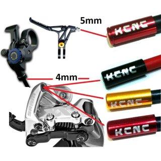 Bremszug KCNC Schaltungszug Außenhülle Endkappe hülse rot gold xt xtr X0 tune
